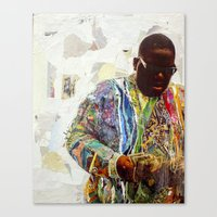 biggie Canvas Prints featuring Biggie by Katy Hirschfeld