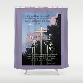 The Coming of the Son of Man Shower Curtain