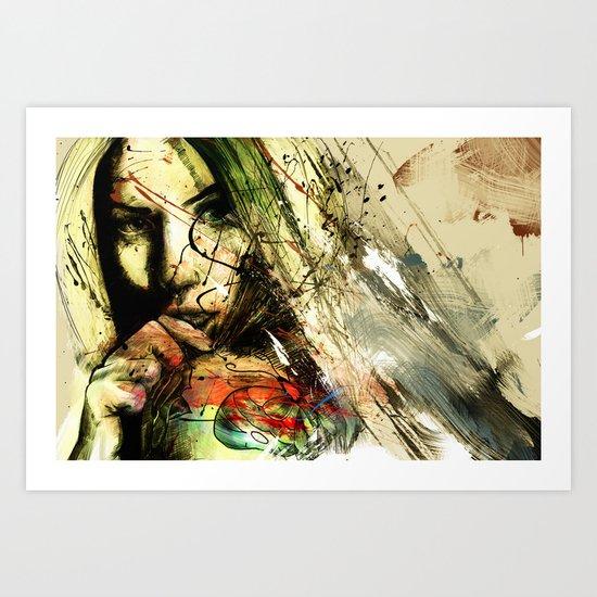 catch hell blues Art Print