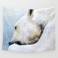 polar bear Wall Tapestries featuring Polar Bear by ThePhotoGuyDarren