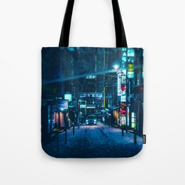 From My Umbrella -Snowy Night- Tote Bag