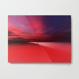 Fisher In Red Metal Print