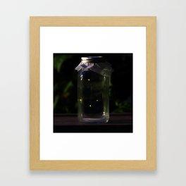 Catching Fireflies Framed Art Print