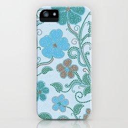 Dotty mosaic pattern iPhone Case