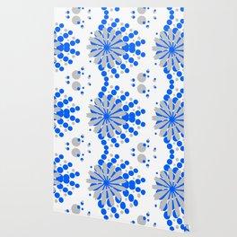 Blue Grey Burst Wallpaper