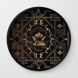 Leather and Gold Wall Clock