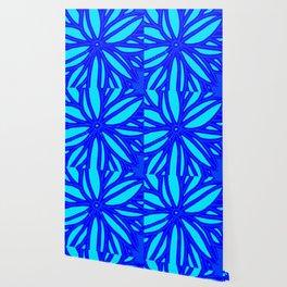 aqua blue bloom Wallpaper