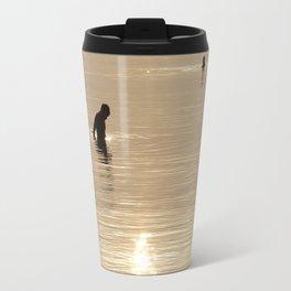 Silhouette of man Travel Mug