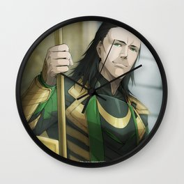 Thor 2 - Loki Print Wall Clock