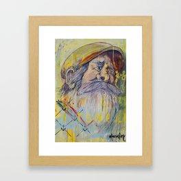 The Captain on Jonah's Boat Framed Art Print
