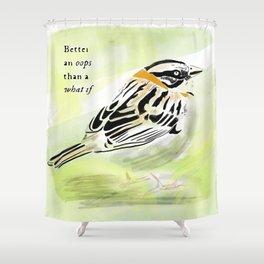 A little bird told me Shower Curtain
