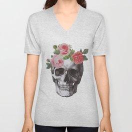 Skull & Roses Unisex V-Neck
