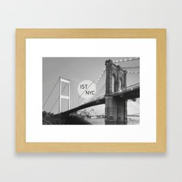 Bridges - nyc vs istanbul Framed Art Print