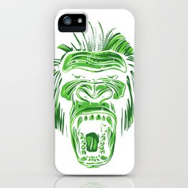 GORILLA KING KONG - Green iPhone Case