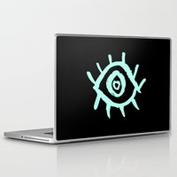 evil eye Laptop & iPad Skins featuring Evil Eye by schillustration