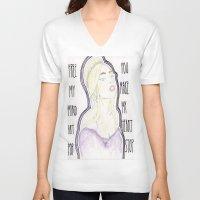 artpop V-neck T-shirts featuring ARTPOP by Christopher DeSapio