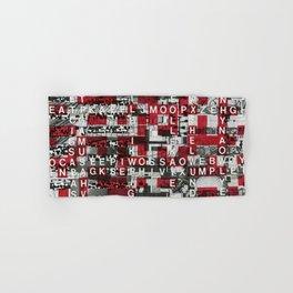 Paradox Network (P/D3 Glitch Collage Studies) Hand & Bath Towel