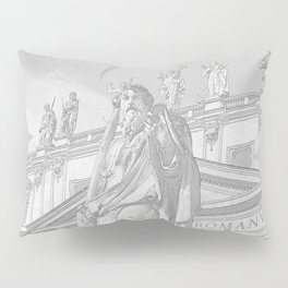 St Peter Rome in Pencil Pillow Sham