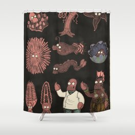 Decapodian Life Cycle Shower Curtain
