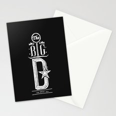 The Big D (wht) Stationery Cards