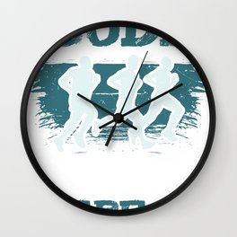 Code Jog Repeat I Running Tee For Developers and Programmers Wall Clock