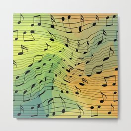 Music notes II Metal Print