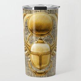 Gold Egyptian Scarab Travel Mug