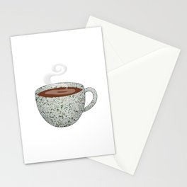 queen anne's lace tea cup - coffee cup series Stationery Cards