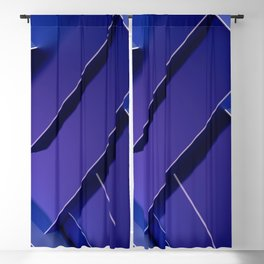3D Blueish Purple Squares Ultra HD Blackout Curtain