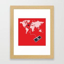 Control The World Framed Art Print