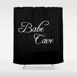 babe cave Shower Curtain