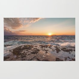Peaceful atmosphere at sunset Rug