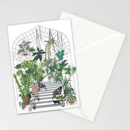 greenhouse illustration Stationery Cards