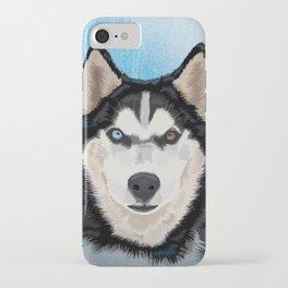 Canadian husky portrait iPhone Case