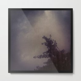 Stormy Sky With Ginko Tree Metal Print