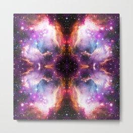 Purple Nebula Clouds Metal Print