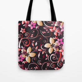 Flowers wall paper 6 Tote Bag