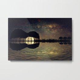 guitar island moonlight Metal Print