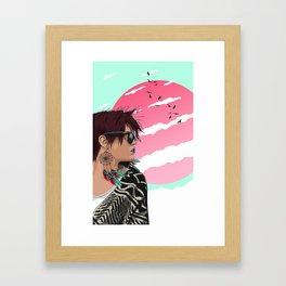 Feather dreams Framed Art Print