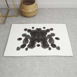 Black And White Inkblot Pattern Rorschach Test Rug