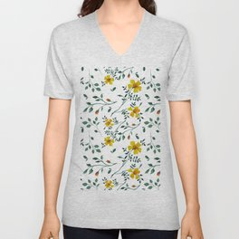 Little yellow flowers Unisex V-Neck