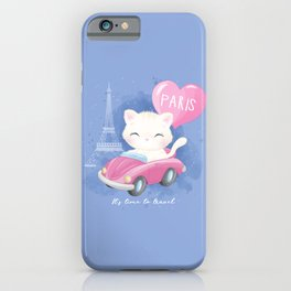 Cute Litter Kitty Traveling  iPhone Case