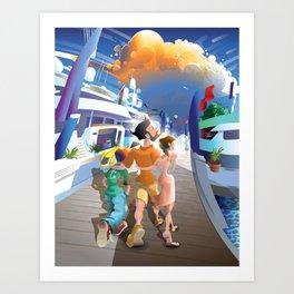 Boat Show Illustration Art Print