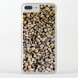 Massive assorted pile of firewood, Photography Clear iPhone Case