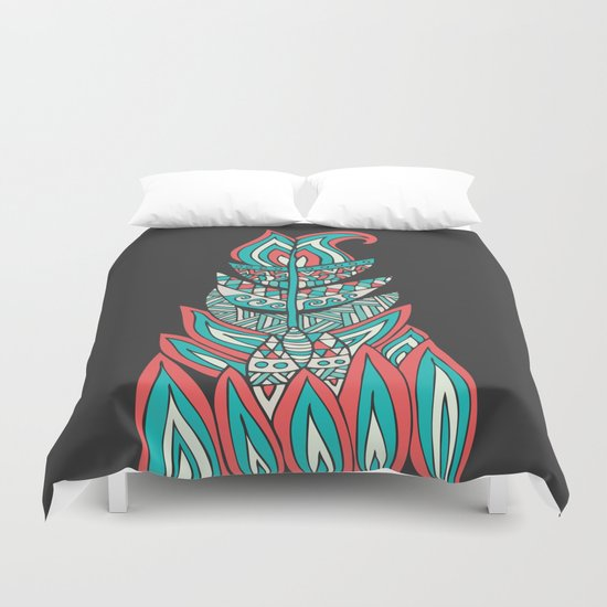 A Romantic Feather Duvet Cover By Pom Graphic Design