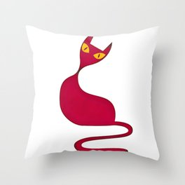67 Cat Art Illustration Throw Pillow