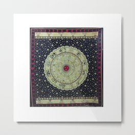 Zodiac Horoscope Tapestry Metal Print