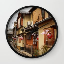 Old Houses in Kyoto Wall Clock