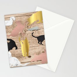 Textured Cats Stationery Cards