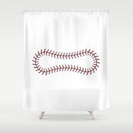 Baseball Lace Background Shower Curtain